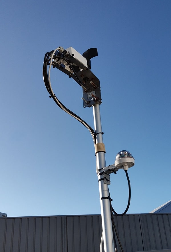 CloudWatcher with anemometer and Hydreon rain sensor setup